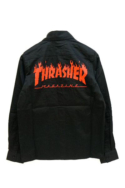 THRASHER TH5093 FRAME-LOGO SHIRT BLK/RED