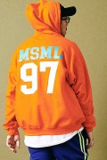 MUSIC SAVED MY LIFE M101-01K5-CL51 BIG HOODIE ORANGE