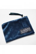 SLEEPING TABLET PATIENT [ VELOUR MINI POUCH ]  NAVY