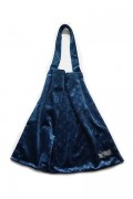 SLEEPING TABLET PATIENT [ VELOUR TOTE BAG ] NAVY