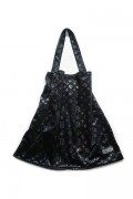 SLEEPING TABLET PATIENT [ VELOUR TOTE BAG ] BLACK
