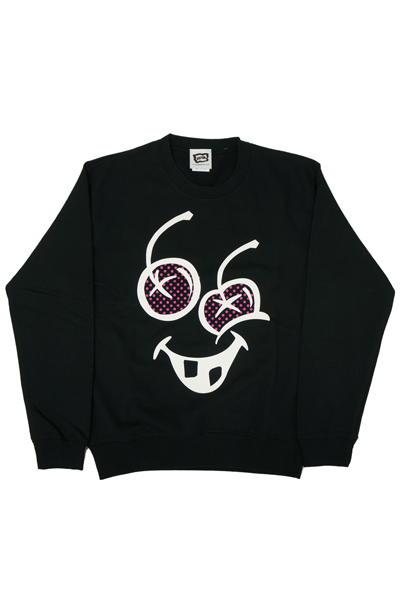 ICECREAM CREWNECK BlACK K820