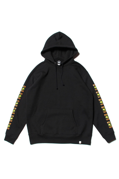 TOY MACHINE TMF19SW16 BRAINWASH SLEEVE PRINT SWEAT PARKA BLACK