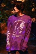 水野ギイ×RIPDW×GEKIROCK CLOTHINGコラボ・ロンT PURPLE