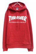 THRASHER TH8501 MAG LOGO HOODIE BRG/WHT