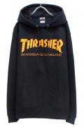 THRASHER TH8501 MAG LOGO HOODIE BLACK/ORANGE