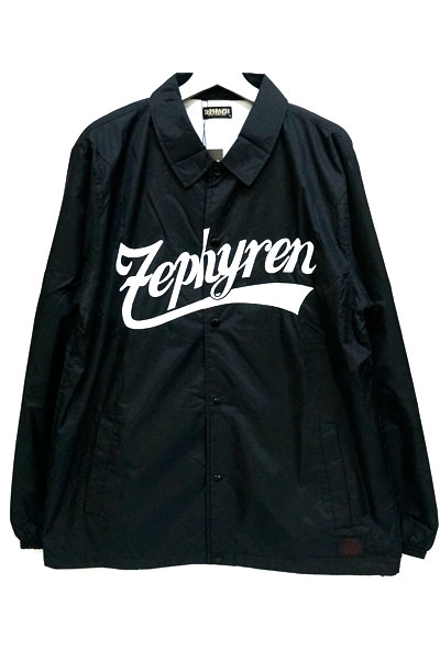 Zephyren (ゼファレン) COACH JKT -BEYOND- BLACKxWHITE-BIG_LOGO