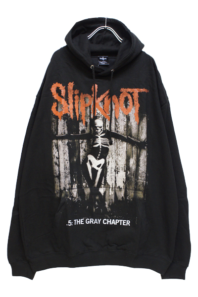SLIPKNOT Gray Chapter Skeleton Hooded Sweatshirt