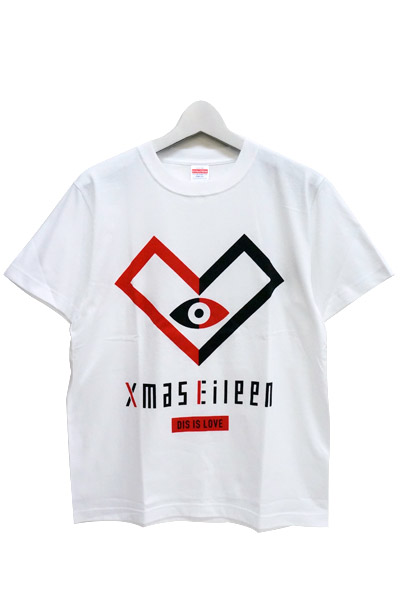 Xmas Eileen DIS IS LOVE EYE Tシャツ(白)