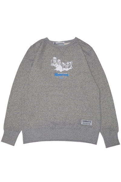 SABBAT13 MONSTERS C/N SWEAT GREY