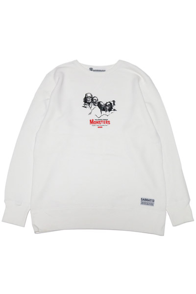 SABBAT13 MONSTERS C/N SWEAT WHITE