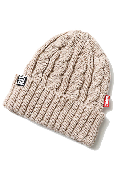 RUDIE'S PHAT CABLE KNITCAP BEIGE