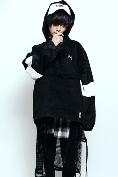 SILLENT FROM ME LAX -Cord Anorak- BLACK/WHITE