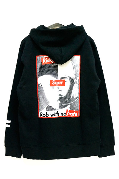 SQUARE RISKY GAME HOODY BLK