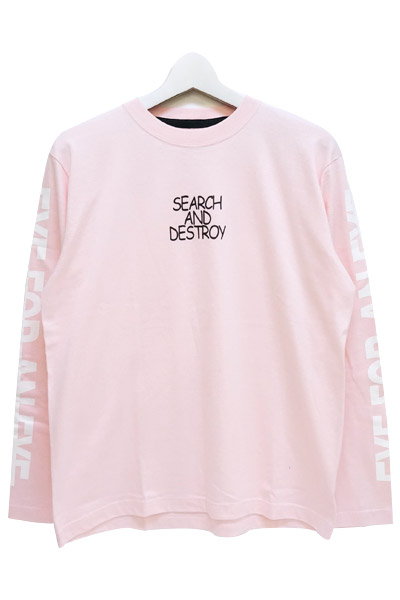 SQUARE EYE FOR AN EYE LS-Ts PINK