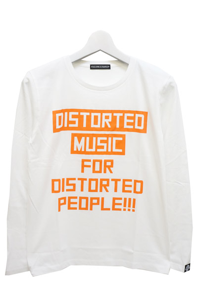 FUZZ REZ ZWEEP DMFDP_1 LONG SLEEVE TEE WHITE