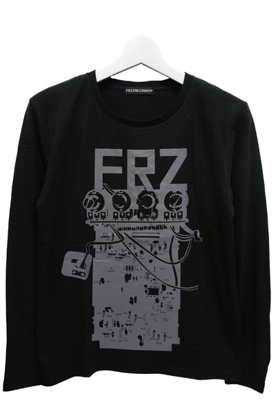 FUZZ REZ ZWEEP DMFDP_2 LONG SLEEVE TEE BLACK