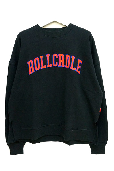 ROLLING CRADLE ROLLCRDLE BIG SWEAT / Black