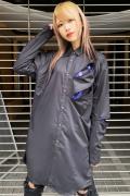 CIVARIZE【シヴァーライズ】 ZIP付きロングシャツ BLACK