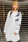 CIVARIZE【シヴァーライズ】 ZIP付きロングシャツ WHITE