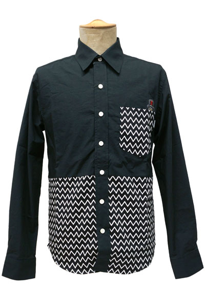 ROLLING CRADLE WAVELET SHIRT / Black