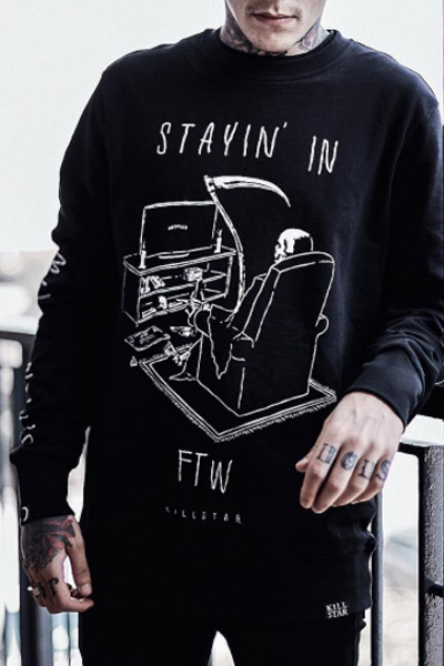 KILL STAR CLOTHING(キルスター・クロージング) Stayin'In Sweatshirt