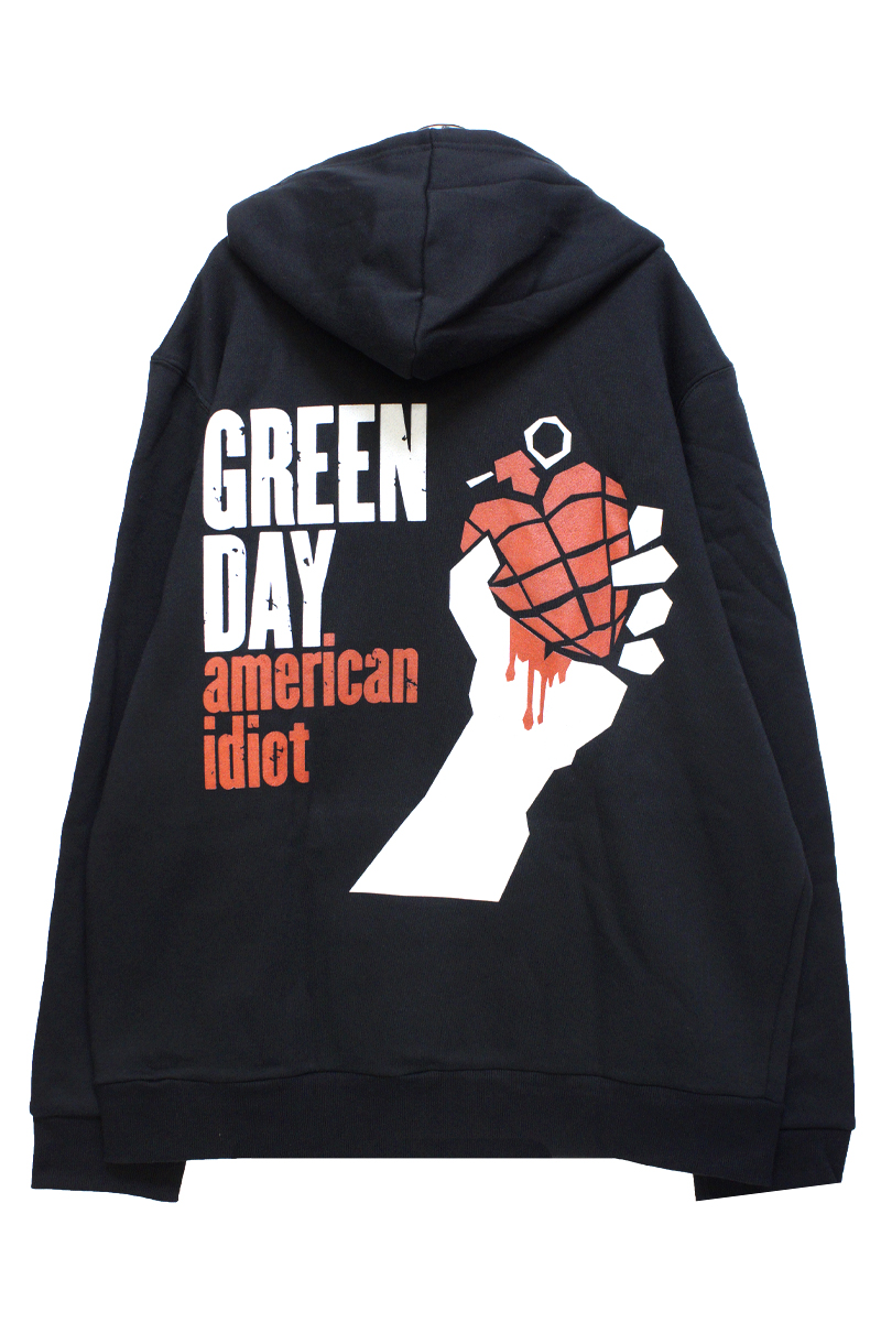 Green Day Hooded Top American idiot size L