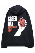 GREEN DAY Unisex Zipped Hoodie: American Idiot