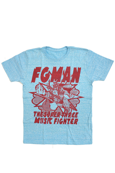 FOUR GET ME A NOTS MUSIC FIGHTER TEE BLUE