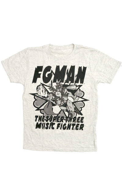FOUR GET ME A NOTS MUSIC FIGHTER TEE WHITE
