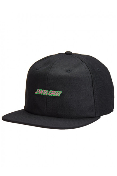 SANTA CRUZ STRIP HATS BLACK
