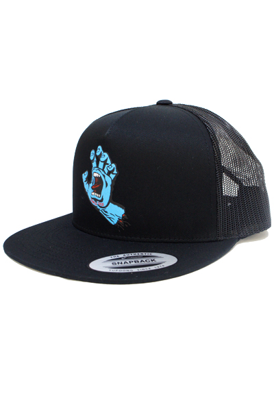 SANTA CRUZ SCREAMING HAND HAT BLACK