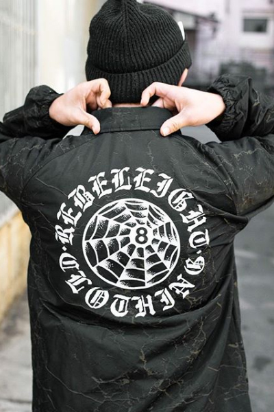 REBEL8 Externo Crackle Coaches Jacket Black