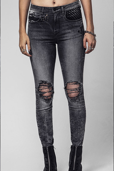 DISTURBIA CLOTHING NOVA BLOW OUT JEAN