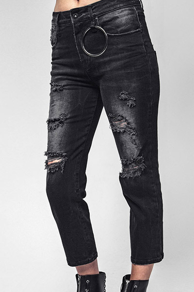DISTURBIA CLOTHING TOTAL BUMMER JEANS