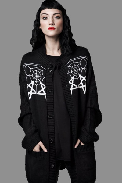 DISTURBIA CLOTHING WEB CARDIGAN