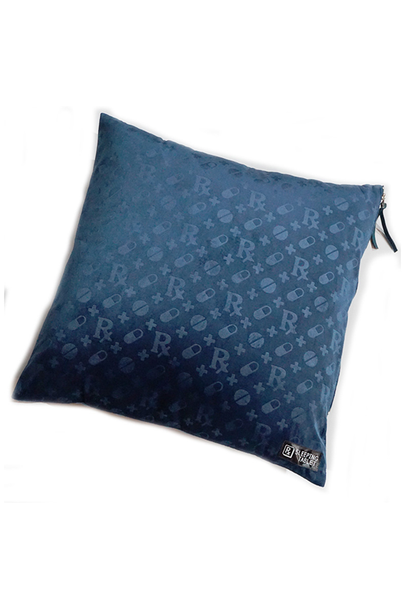 SLEEPING TABLET PATIENT [ VELOUR CUSHION COVER ] NAVY