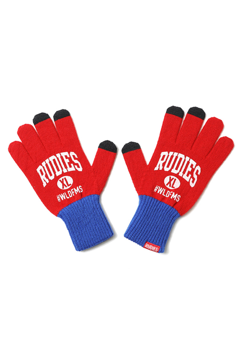 RUDIE'S COLLEGE GLOVE RED