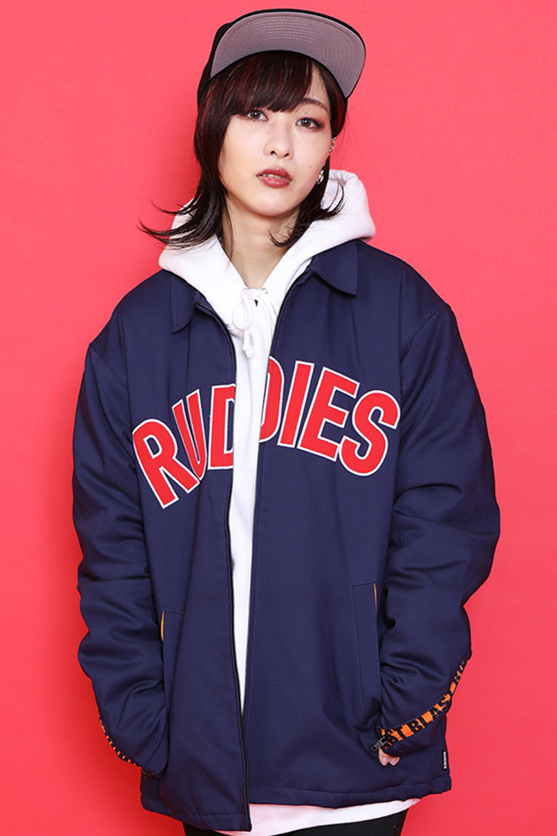 RUDIE'S PHAT COACH JACKET NAVY
