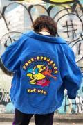 PUNK DRUNKERS [PDSxPAC-MAN]名人コーデュロイJKT - BLUE