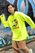 PUNK DRUNKERS [PDSxPAC-MAN]逃げロンTEE - N.YELLOW