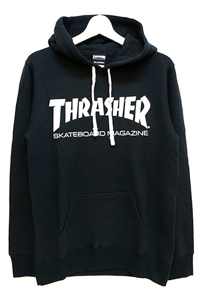 THRASHER TH8501FT MAG FRENCH TERRY HOODIE BLACK