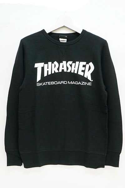 THRASHER TH8401FT MAG FRENCH TERRY CREW SWEAT BLACK
