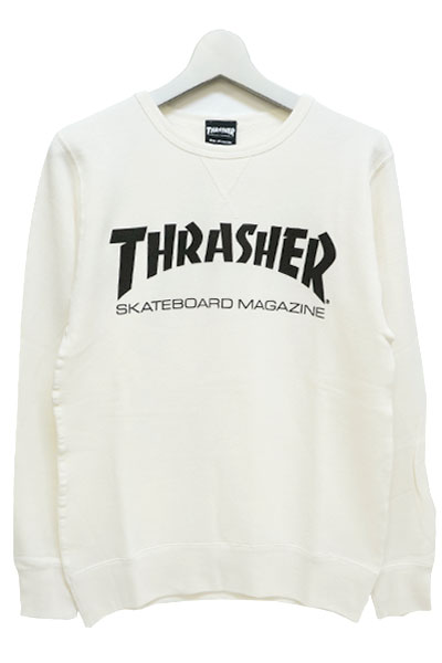 THRASHER TH8401FT MAG FRENCH TERRY CREW SWEAT WHITE