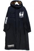 NOT COMMON SENSE PUNK ART LONG COAT JKT BLACK / BROWN