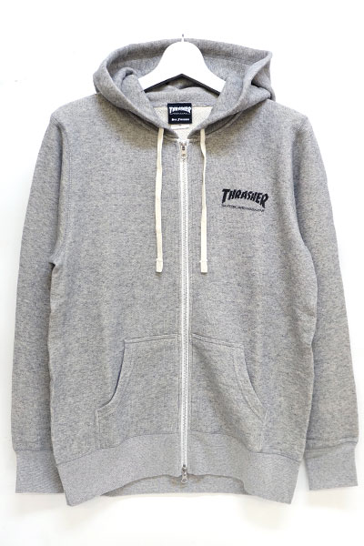 THRASHER TH8601FT MAG FRENCH TERRY ZIP HOODIE GRAY