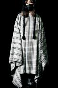 SILLENT FROM ME EVIDENCE -Extra Wide Poncho- GRAY