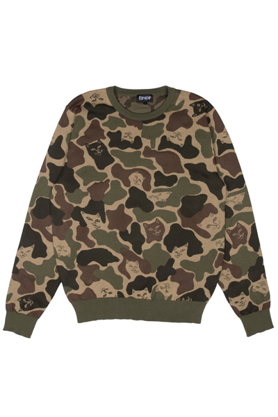 RIPNDIP Nermal Camo Sweater (Green Camo)