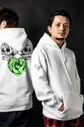 田中聖×GoneR×GEKIROCK CLOTIHNG Collaboration Parka White
