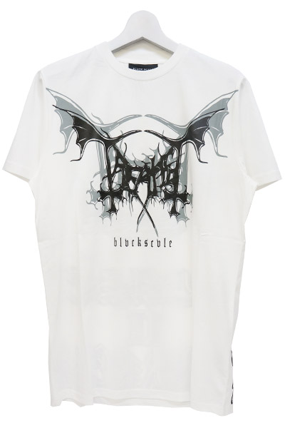 BLACK SCALE WING TEE WHITE